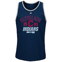 Men's Majestic Cleveland Indians Flawless Victory Tank