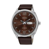 Seiko Men's Recraft Leather Automatic Watch - SNKN49