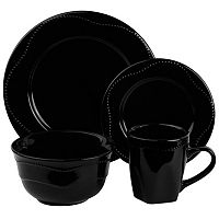 10 Strawberry Street Nova Beaded 16-pc. Dinnerware Set