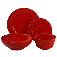 10 Strawberry Street Nova Beaded 19-pc. Dinnerware Set
