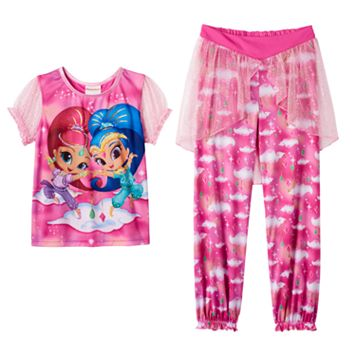 Girls 4-10 Shimmer & Shine Pajama Set