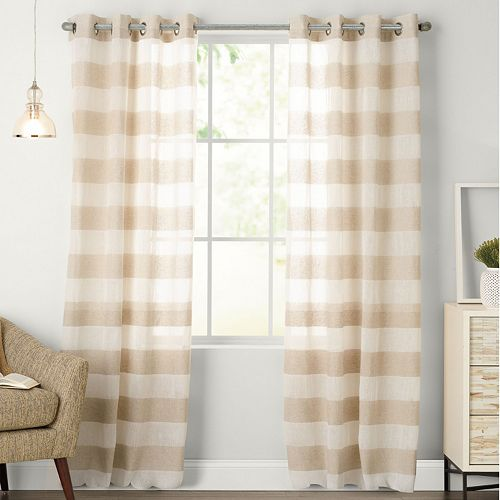 SONOMA Goods for Life™ 1-Panel Naturals Attaquin Window Curtain