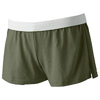 Juniors' Soffe White Band Low-Rise Shortie Shorts