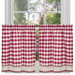 Buffalo Check Tier Kitchen Window Curtain Set