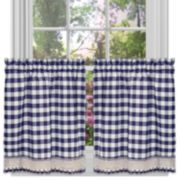 Buffalo Check Tier Kitchen Window Curtain Set