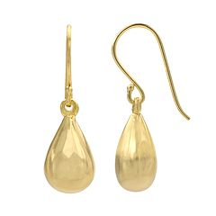 14k Gold-Plated Teardrop Earrings