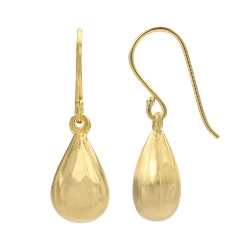 14k Gold-Plated Teardrop Earrings