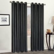 United Curtain Co. Faux -Leather Window Curtain