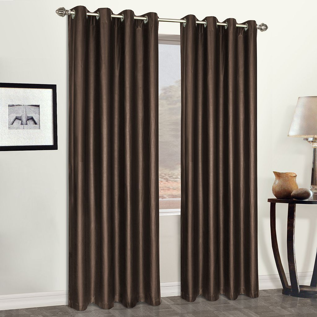 United Window Curtain Co. Faux -Leather Window Curtain