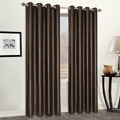 United Curtain Co. 1-Panel  Faux -Leather Window Curtain
