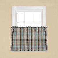 Saturday Knight, Ltd. Cooper Plaid Tier Kitchen Window Curtain Set