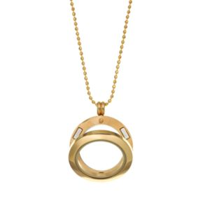 Blue La Rue 14k Gold Over Stainless Steel 1-in. Round Charm Locket