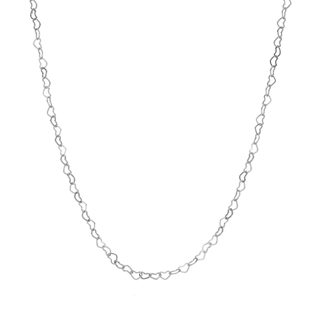 Blue La Rue Stainless Steel Heart Cable Chain Necklace