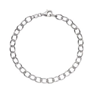 Individuality Beads Sterling Silver Rolo-Link Charm Bracelet
