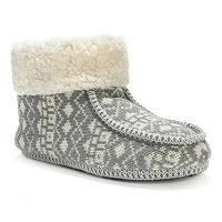 MUK LUKS Women's Fairisle Moccasin Boot Slippers