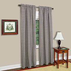 Buffalo Check 1-Panel Window Curtain
