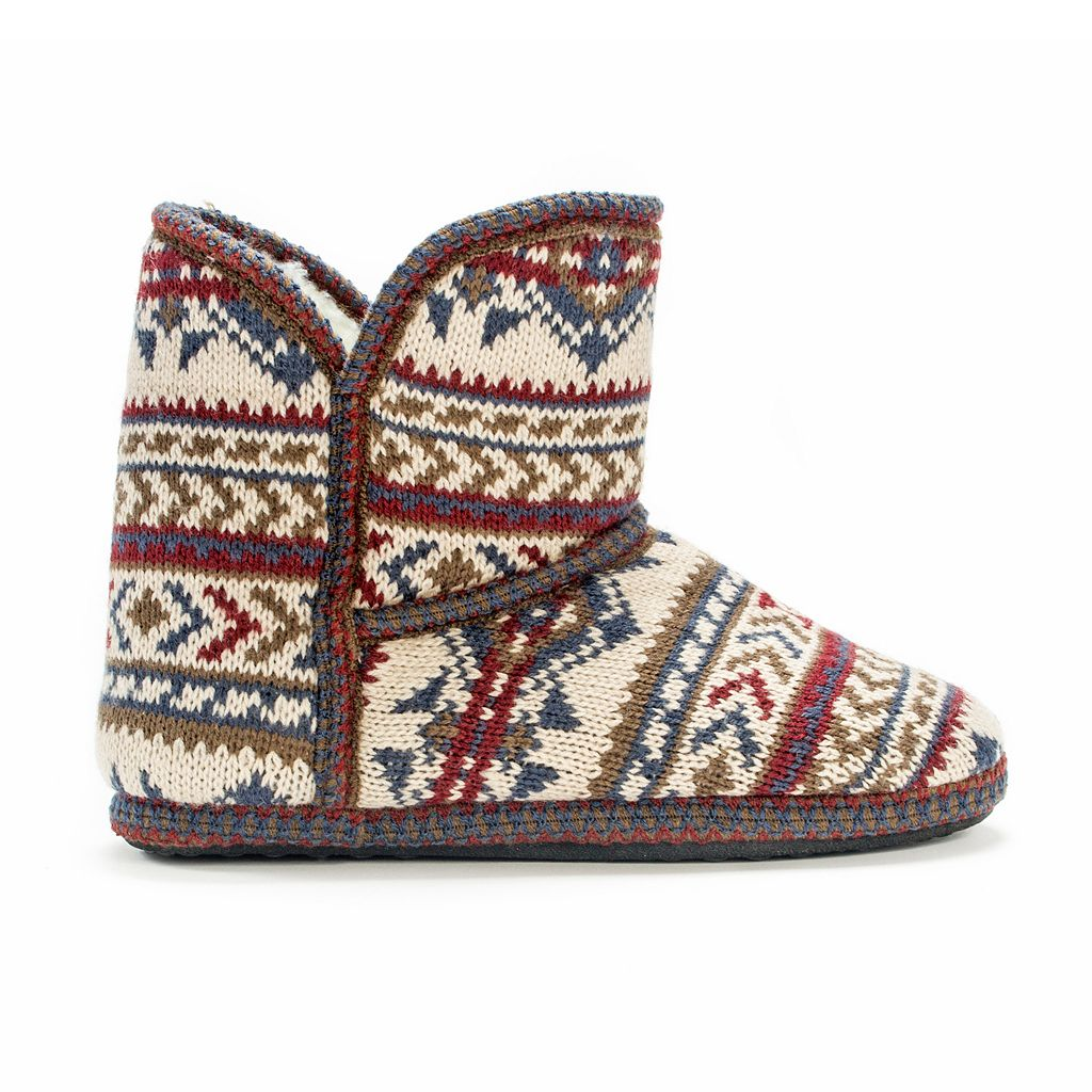 MUK LUKS Women's Knit Boot Slippers