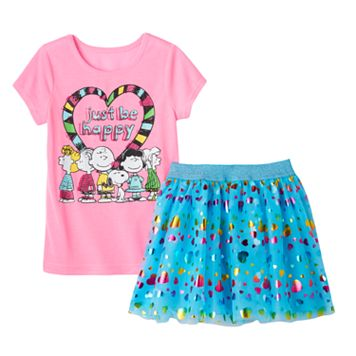 Girls 4-6x Peanuts Tee & Skirt Set