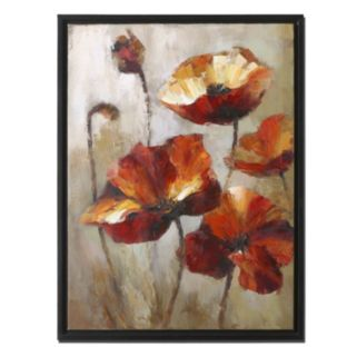 Window View Floral Framed Wall Art