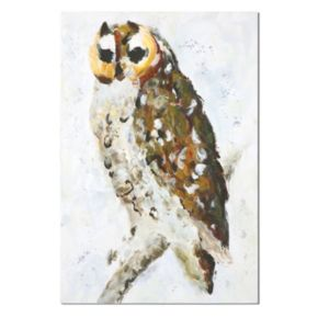 """""""Hoo Are You"""" Canvas Wall Art"""