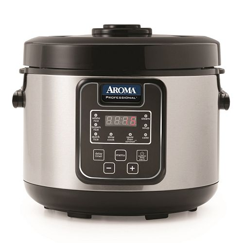 Aroma 20-Cup Stainless Steel Digital Rice Cooker