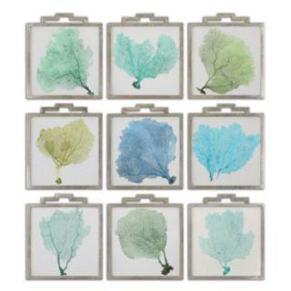 Uttermost Sea Fans Framed Wall Art 9-piece Set