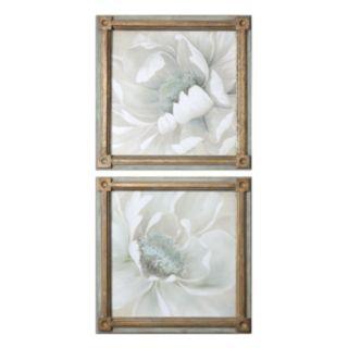 Winter Blooms Framed Wall Art 2-piece Set
