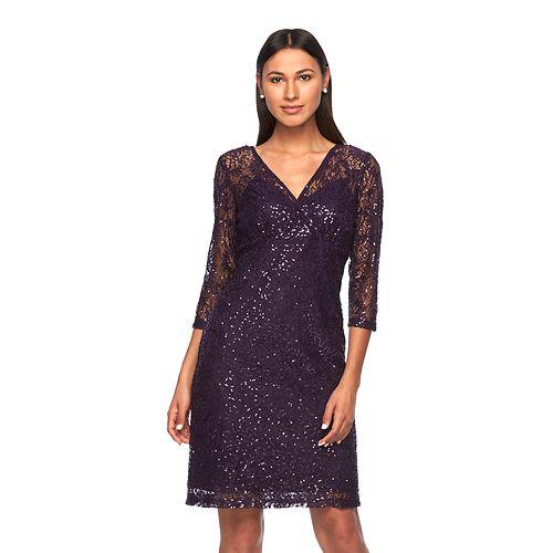 Women's Ronni Nicole Sequin Surplice Dress