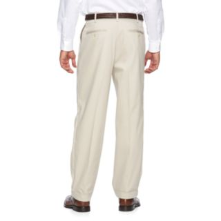 Men's Croft & Barrow® No-Iron Relaxed-Fit Pleated Khaki Pants