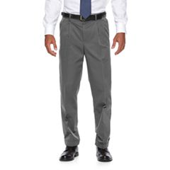 Men's Croft & Barrow® No-Iron Relaxed-Fit Pleated Khaki Pants