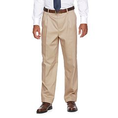 Men's Croft & Barrow® No-Iron Relaxed-Fit Pleated Pants