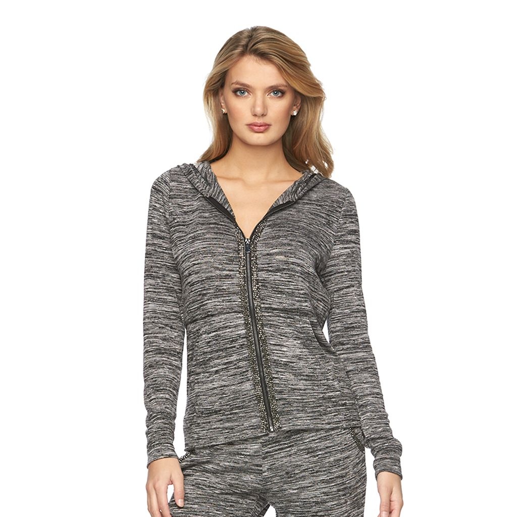 Women's Juicy Couture Embellished Marled Hoodie
