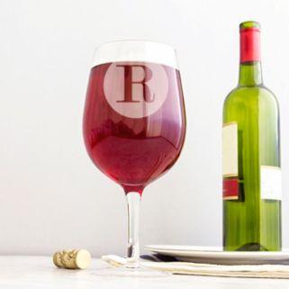 Cathy's Concepts 25-oz. Monogram Wine Glass
