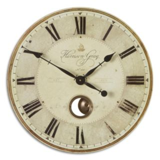 Uttermost Harrison Gray Wall Small Clock