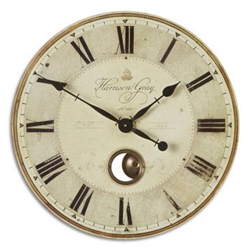 Harrison Gray Wall Small Clock
