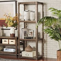 HomeVance Harthan Industrial Bookshelf