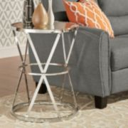 HomeVance Benelva Mirrored Top Accent Table