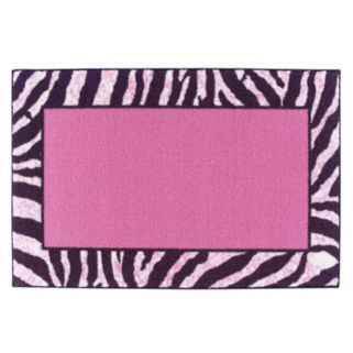 Brumlow Mills Zebra Frame Rug