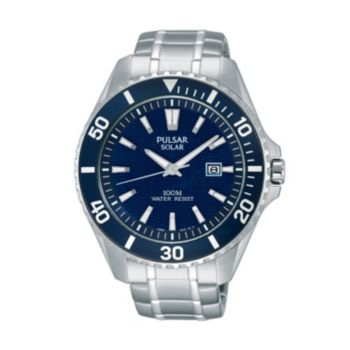 Pulsar Men's On the Go Stainless Steel Solar Watch