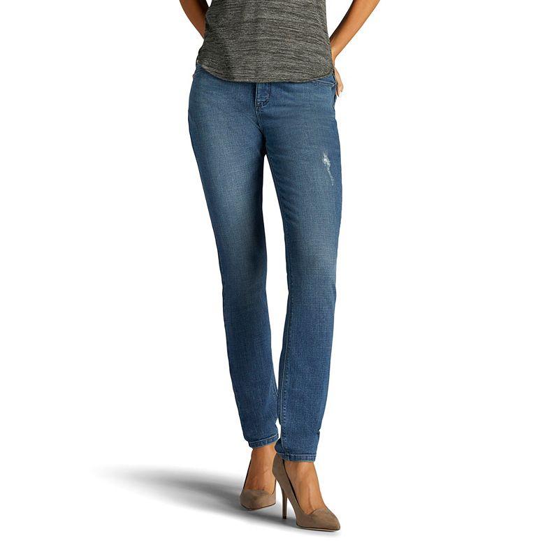 Women's Lee Dream Soft Skinny-Leg Jeans, Size: 4 - regular, Dark Blue