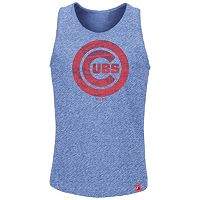 Men's Majestic Chicago Cubs Hours to Hours Tank Top
