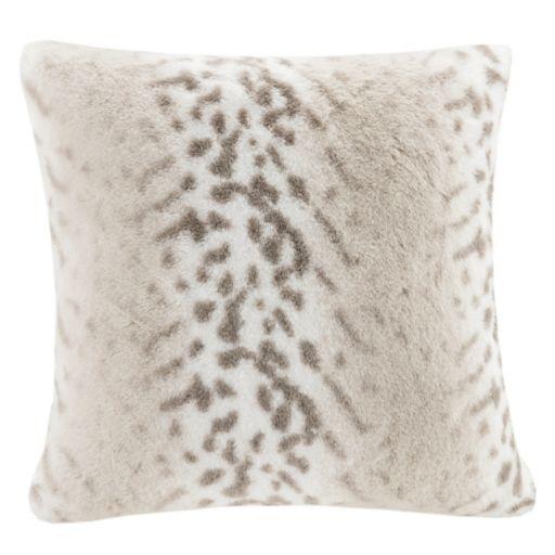 Madison Park Signature Luxury Faux Fur Throw Pillow