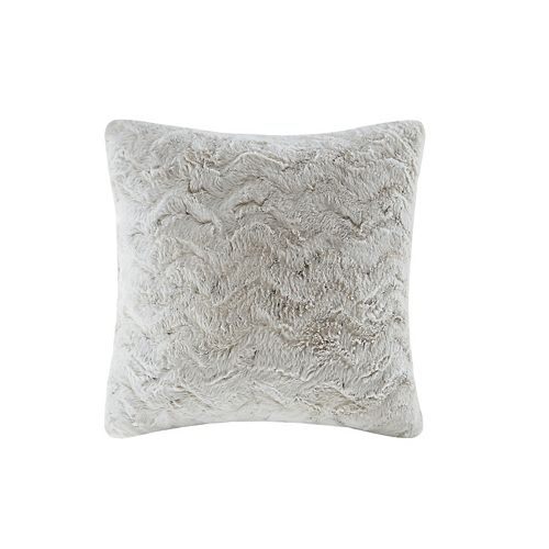 Madison Park Marselle Faux Fur Throw Pillow