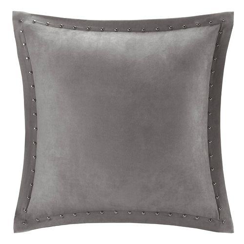 Madison Park Stud Trim Microsuede Throw Pillow