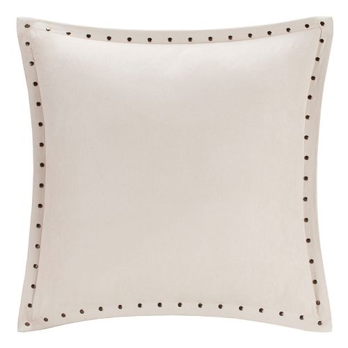 Madison Park Stud Trim Microsuede Throw Pillow