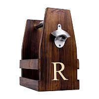 Cathy's Concepts Monogram Wooden Craft Beer Carrier