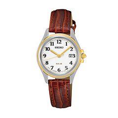 Seiko Women's Core Leather Solar Watch