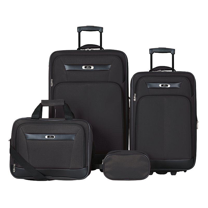 Skyway DeSoto 2.0 4-Piece Luggage Set, Black