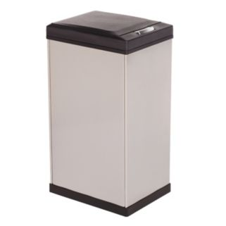 Kamenstein 10.5-Gallon Stainless Steel Trash Can