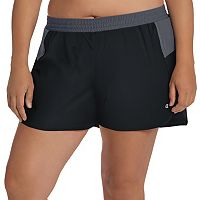 Plus Size Champion Sport 5 Colorblock Woven Shorts